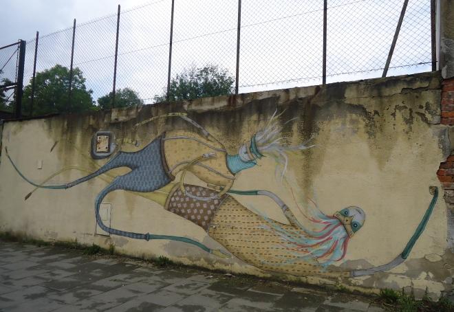Street art in Kraków.